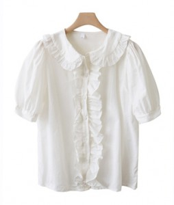 <br> Frilly Line Volume Blouse <br><br>