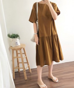 <br> Daily Shirring Dress <br><br>
