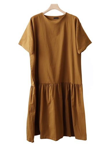 <br> Daily Ruched Dress <br> [Return can not be exchanged]