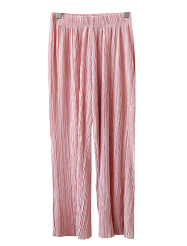 <br> pastel Pleats Tong Pants <br> - Not returned or exchanged;