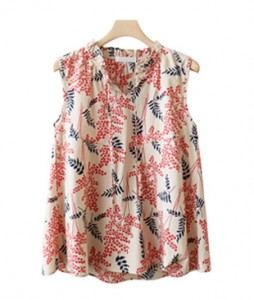 <br> Blossom Sleeveless shirts Blouse <br><br>