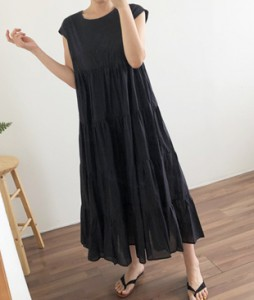 <br> Cancan Sleeveless shirts Long Dress <br><br>