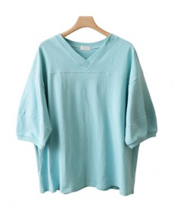 <br> Puff V-neck Tee <br><br>