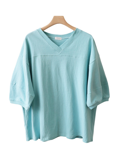 <br> Puff V-neck Tee <br> [Return can not be exchanged]