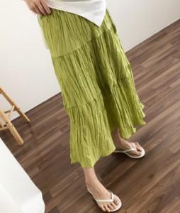 <br> Colored Wrinkle Banding Skirt <br><br>