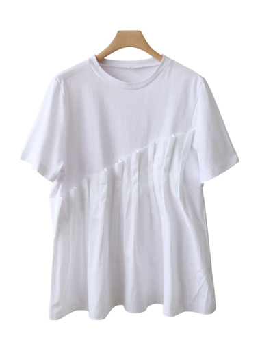 <br> Pin tuck color feminine Tee <br><br>