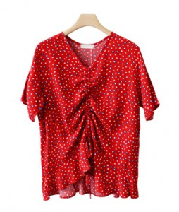 <br> Red Dot string Blouse <br><br>