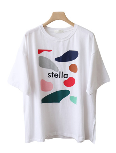 <br> Stale Prints Boxy Tee <br><br>