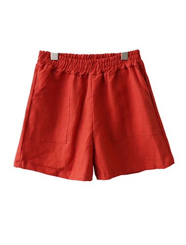 <br> Linen Pocket Shorts <br> [Return can not be replaced]