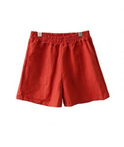 <br> Linen Pocket Shorts <br><br>