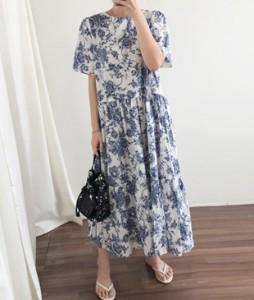 <br> Blue Shirring Dress <br><br>