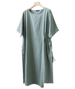<br> Side String Unbalanced Dress <br><br>