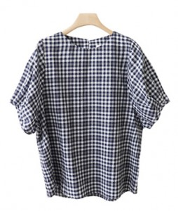 <br> Lovely Sleeve Check Blouse <br><br>