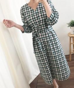 <br> Noah Check String Dress <br> <b><font color=#253952>Dress 5th place</font></b>