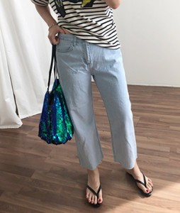 <br> Chase Straight Denim Tong Pants <br> [Return can not be replaced]