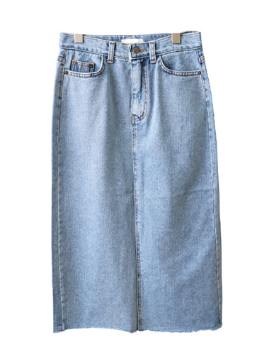 <br> Small angle Denim Skirt <br><br>