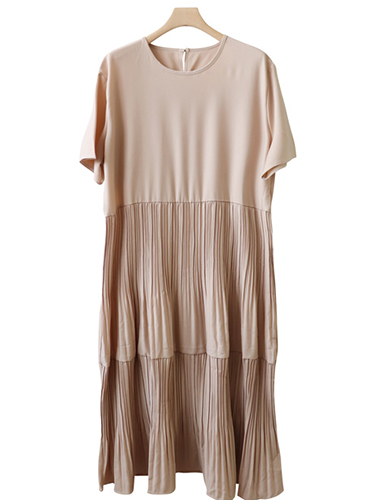 <br> Barrel Pleats Long Dress <br> [Return can not be exchanged]