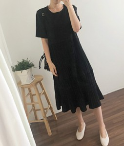 <br> Barrel Pleats Long Dress <br> <b><font color=#253952>Dress first place product</font></b>