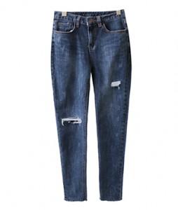 <br> Deep Blue Scratch Skinny Jeans <br><br>
