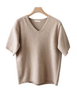 <br> Awesome V-neck Short-sleeve Knit <br><br>