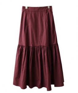 <br> Every Shirring Long Flare Skirt <br><br>