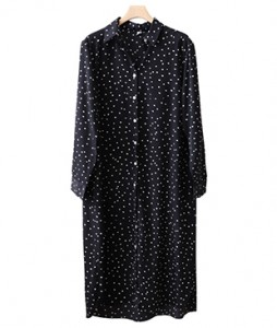 <br> Natural Dot Kara Dress <br> <b><font color=#253952>Dress fourth place product</font></b>