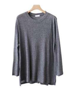 <br> Easy Tencel Long-sleeve Tee <br> [Return can not be exchanged]