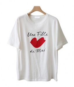 <br> Red heart Short-sleeve Tee <br><br>
