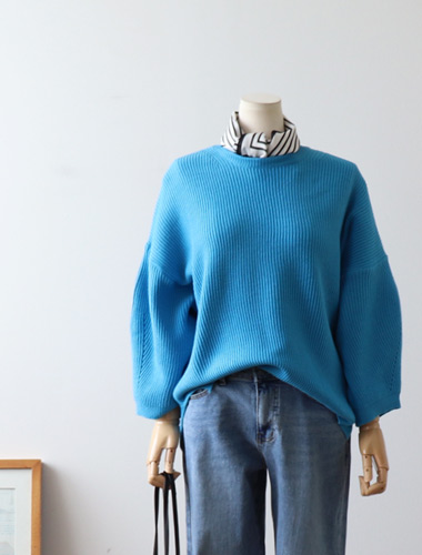 <br> Color Corrugated Puff Knit <br><br>