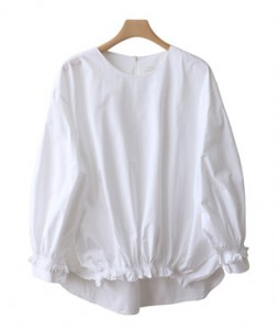 <br> Volume Fit Pretty Hem Banding Blouse <br><br>