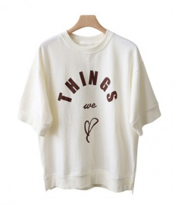 <br> Some lettering Man to man Tee <br><br>