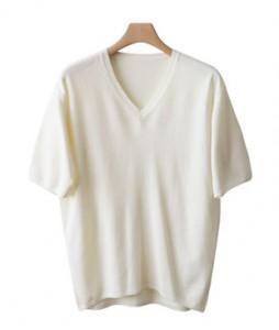 <br> Soft Cashmere Short-sleeve Knit <br><br>