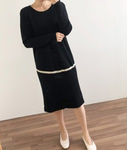 <br> Corrugated Cardboard Knit Dress <br><br>