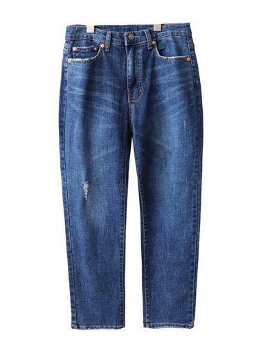 <br> Deep Blue Tidy Semi Baggy Pants <br><br>