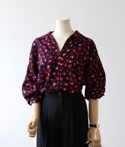 <br> Silky Heart Leopard Blouse <br> <b><font color=#253952>The blouse first place product</font></b>