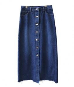 <br> Burton Denim Long Skirt <br><br>
