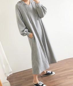 <br> Maxi Long Scared Hood Dress <br><br>