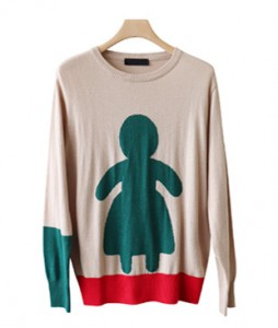 <br> Human color combination Slim Knit <br><br>