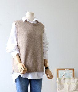 <br> Lissen Sheep Head Knit Vest <br><br>