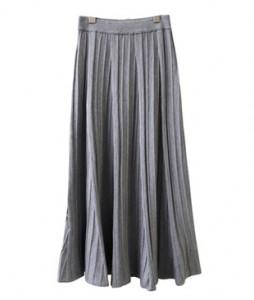 <br> Wavy Wrinkles Knit Skirt <br><br>