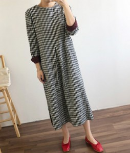 <br> Check color combination Long Dress <br><br>