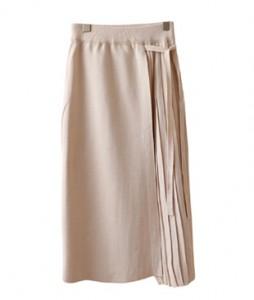 Harp Pleats string Knit Skirt <br>