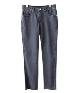 <br> Good Gray Straight Denim Pants <br><br>