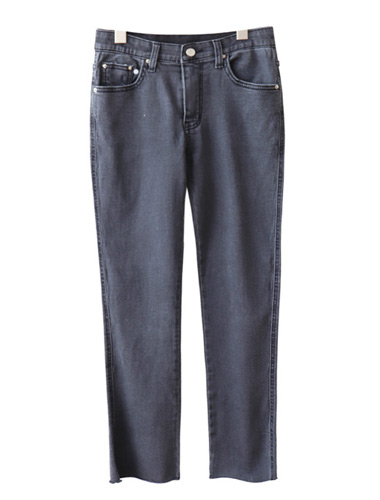 <br> Good Gray Straight Denim Pants <br> <b><font color=#253952>The pants third place product</font></b>