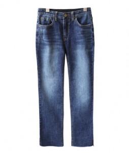 <br> Hem slit Deep Blue Jeans <br><br>
