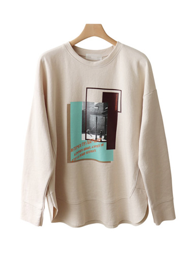<br> Square printing cutting tee <br><br>
