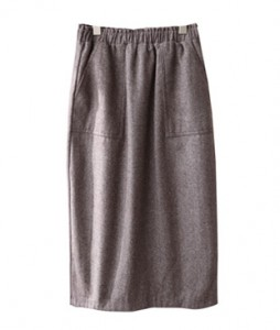 <br> Pocket Herringbone Banding Skirt <br><br>