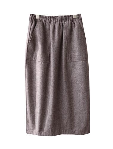 <br> Pocket Herringbone Banding Skirt <br><br>