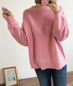 <br> pastel Round Knit <br> [Return can not be exchanged]
