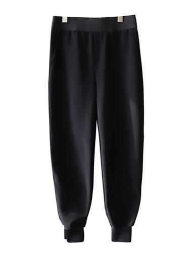 <br> Slit Jogger Slacks Span Pants <br> <b><font color=#253952>The pants fourth place product</font></b>